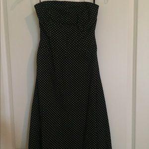 Charlotte Rose Polka Dot Strapless Dress